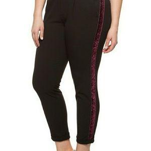 DEX Plus Classic Velvet Trimmed Pants Size 3X